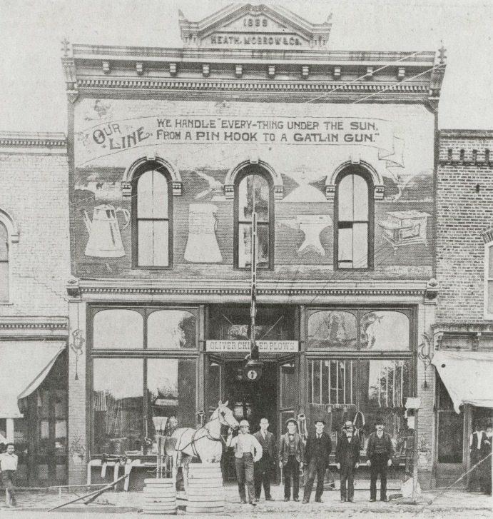 Merchants in Monroe in the early 1900s